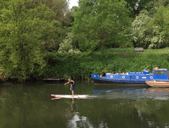 Lock and weir paddle board spot in United Kingdom