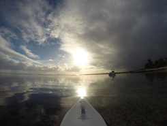 The Vale paddle board spot in Mauritius