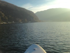 Lago di Lugano paddle board spot in Switzerland