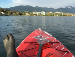 Vevey paddle board spot in Switzerland