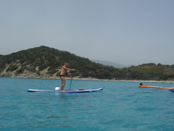 Villasimius paddle board spot in Italy