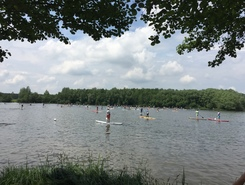 Kleiner Brombachsee, Langlau paddle board spot in Germany