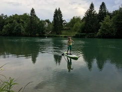 Zbilje lake spot de stand up paddle en Slovénie
