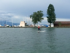 Chevroux spot de stand up paddle en Suisse