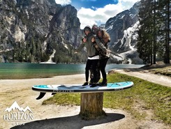 braies lake paddle board spot in Italy