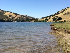 Del Valle Lake paddle board spot in United States