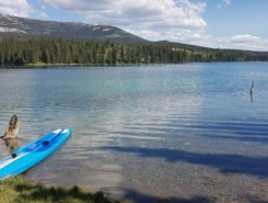 Chadburn Lake paddle board spot in Canada