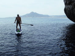 Buggerru paddle board spot in Italy