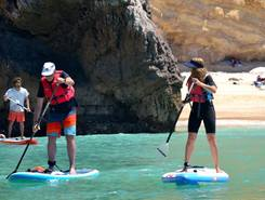 Praia da Ribeira do Cavalp sitio de stand up paddle / paddle surf en Portugal