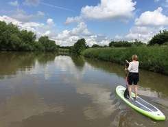 Werre paddle board spot in Germany