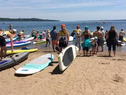 Lake Simcoe paddle board spot in Canada