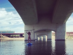 Tempe Town Lake. spot de stand up paddle en États-Unis