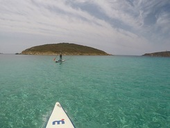 Capo Malfatano paddle board spot in Italy