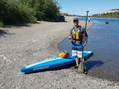 Yukon River sitio de stand up paddle / paddle surf en Canadá