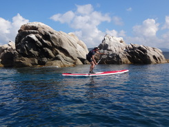 porto pollo sitio de stand up paddle / paddle surf en Francia