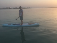 Al khor paddle board spot in Qatar