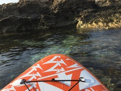 Konnos Beach paddle board spot in Cyprus