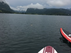 Lake Bohinj, Camp Zlatorog sitio de stand up paddle / paddle surf en Eslovenia