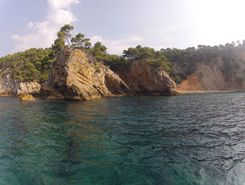 Calanque de Port d'alon sitio de stand up paddle / paddle surf en Francia