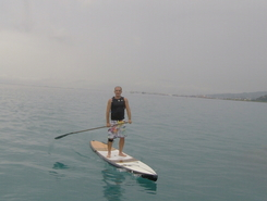 Fare Ute paddle board spot in French Polynesia