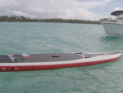Raiatea paddle board spot in French Polynesia