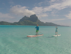 Bora Bora paddle board spot in French Polynesia