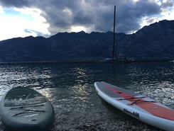 Fraglia Vela Malcesine  paddle board spot in Italy