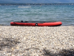 Corsier Port paddle board spot in Switzerland
