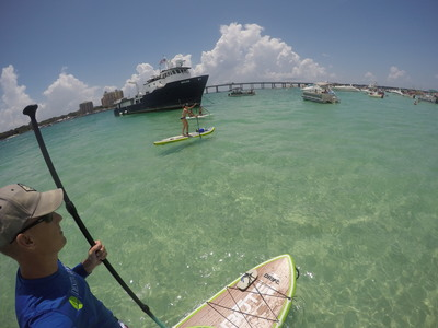 Destin harbor paddle board spot in United States