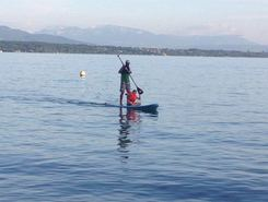 Plage de Promenthoux paddle board spot in Switzerland
