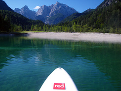 Kranjska gora paddle board spot in Slovenia