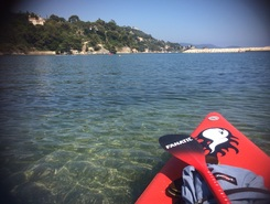 Saint Mandrier paddle board spot in France