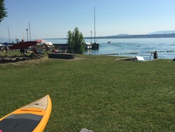 Plage du Reposoir paddle board spot in Switzerland