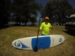 Dojran lake paddle board spot in Macedonia