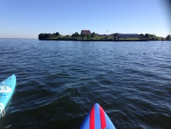 Pampus  paddle board spot in Netherlands
