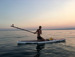 Garda sitio de stand up paddle / paddle surf en Italia