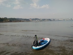 Playa de Santa Cristina paddle board spot in Spain