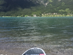 Achensee paddle board spot in Austria