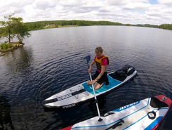 Halen paddle board spot in Sweden