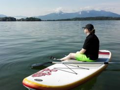 Chiemsee  paddle board spot in Germany