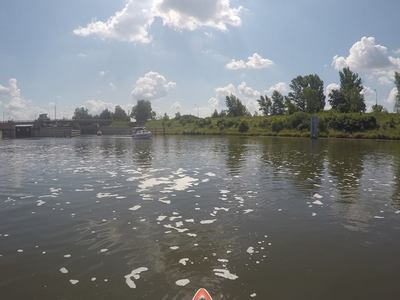 Marina Oława paddle board spot in Poland