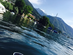 Locarno paddle board spot in Switzerland