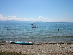 Perroy-plage sitio de stand up paddle / paddle surf en Suiza