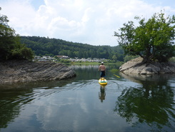 Edersee paddle board spot in Germany
