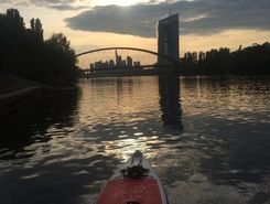 Deutschherrnufer, Frankfurt am Main paddle board spot in Germany
