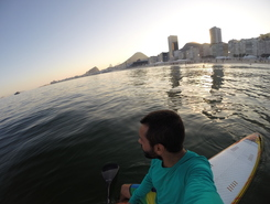 Leme sitio de stand up paddle / paddle surf en Brasil