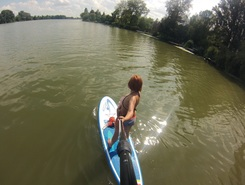 Duna paddle board spot in Hungary