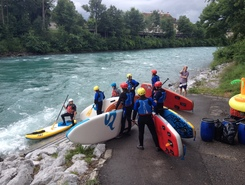 Aare spot de stand up paddle en Suisse