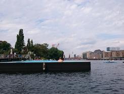 Berlin Badeschiff spot de stand up paddle en Allemagne