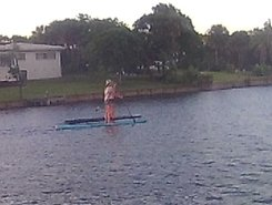 Eau Gallie spot de stand up paddle en États-Unis
